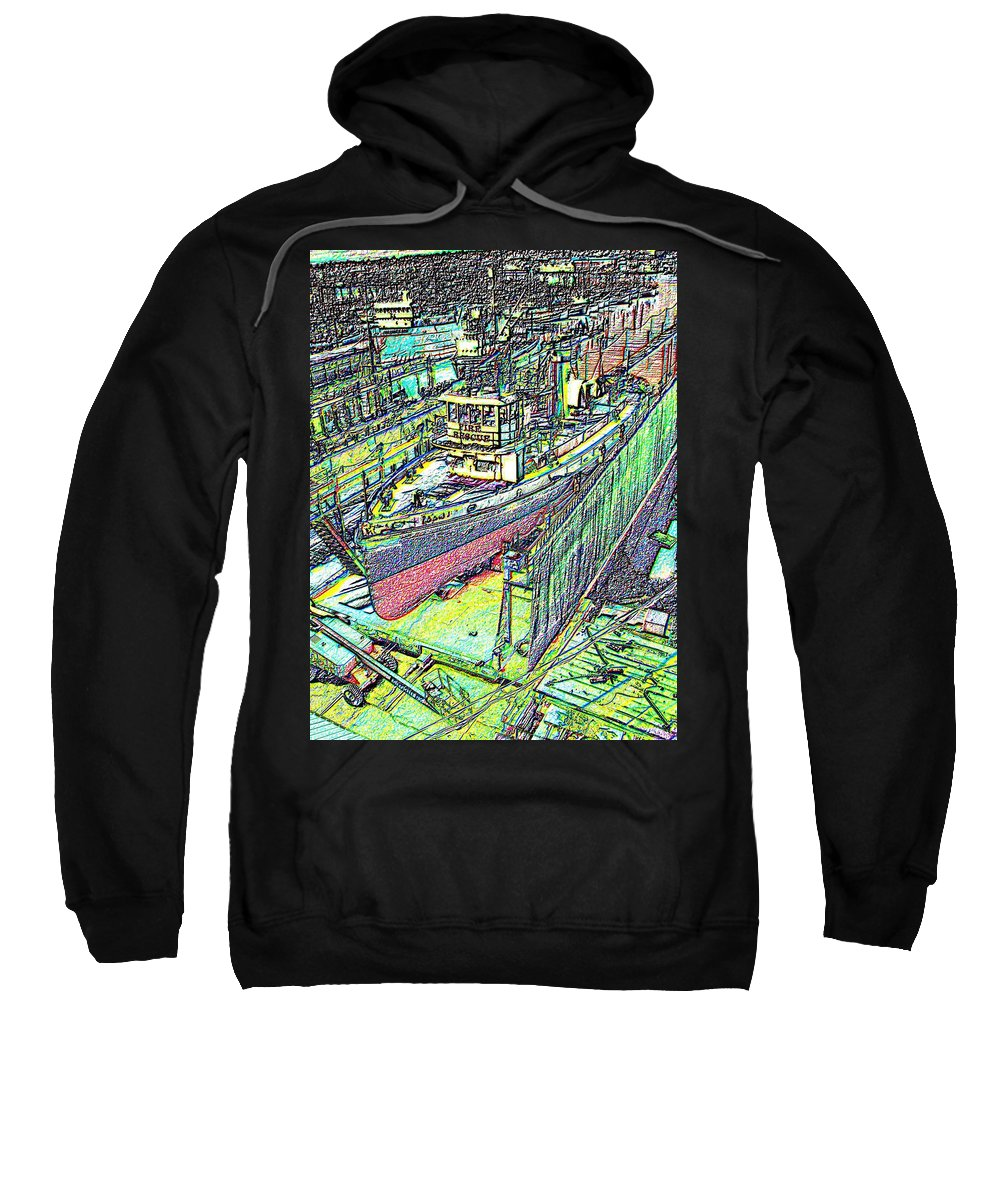 Seattle Sweatshirt featuring the photograph Fire Rescue by Tim Allen