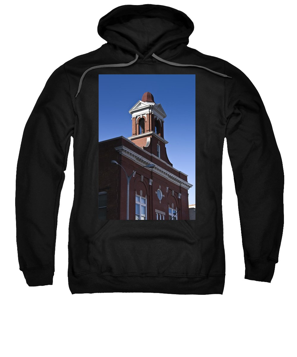 Roanoke Sweatshirt featuring the photograph Fire Station No 1 Roanoke Virginia by Teresa Mucha