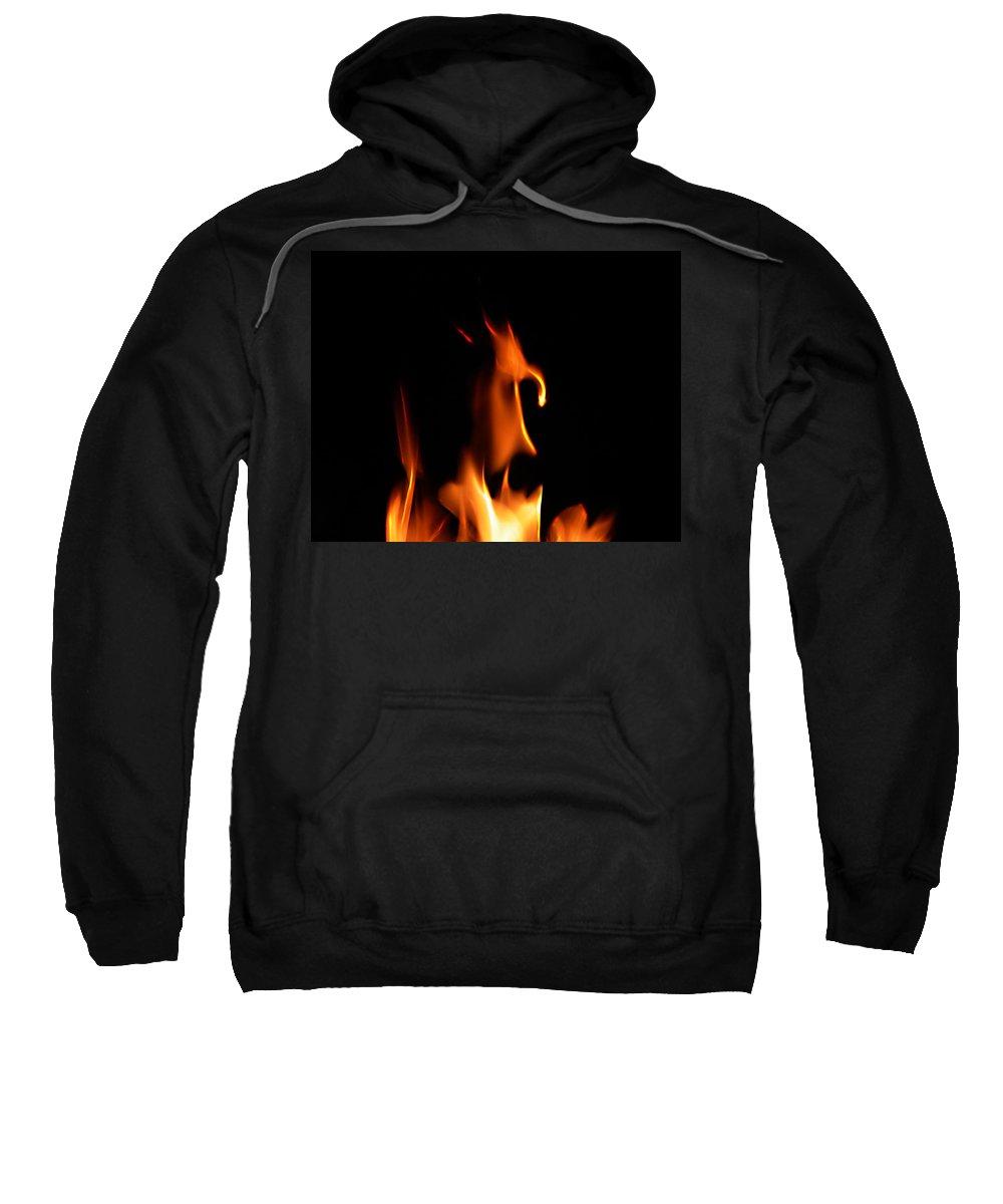 Cartoon Character Fire Sweatshirt featuring the photograph Fire Toon by Peter Piatt