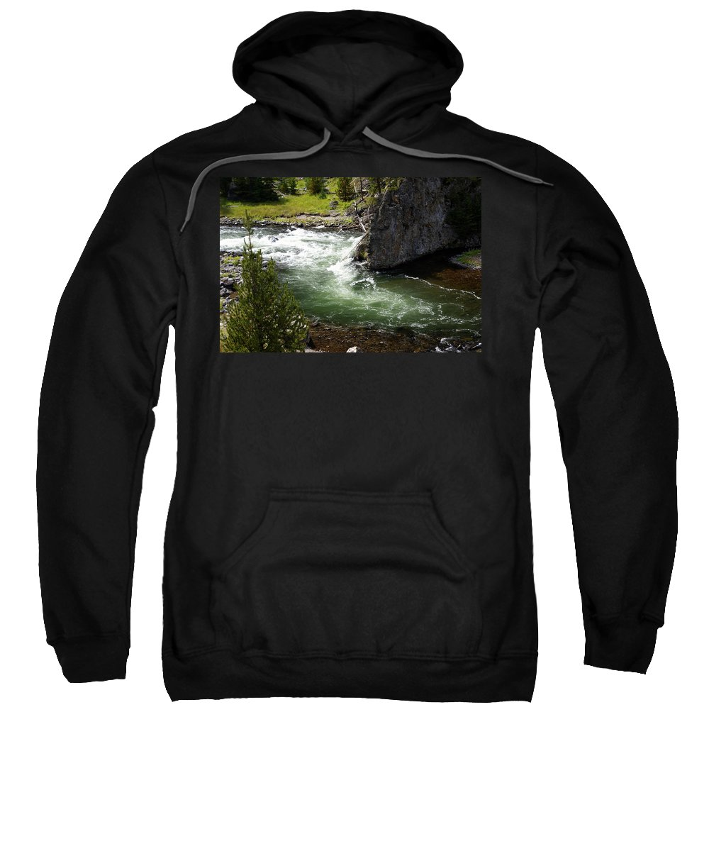 Yellowstone National Park Sweatshirt featuring the photograph Firehole Canyon 1 by Marty Koch