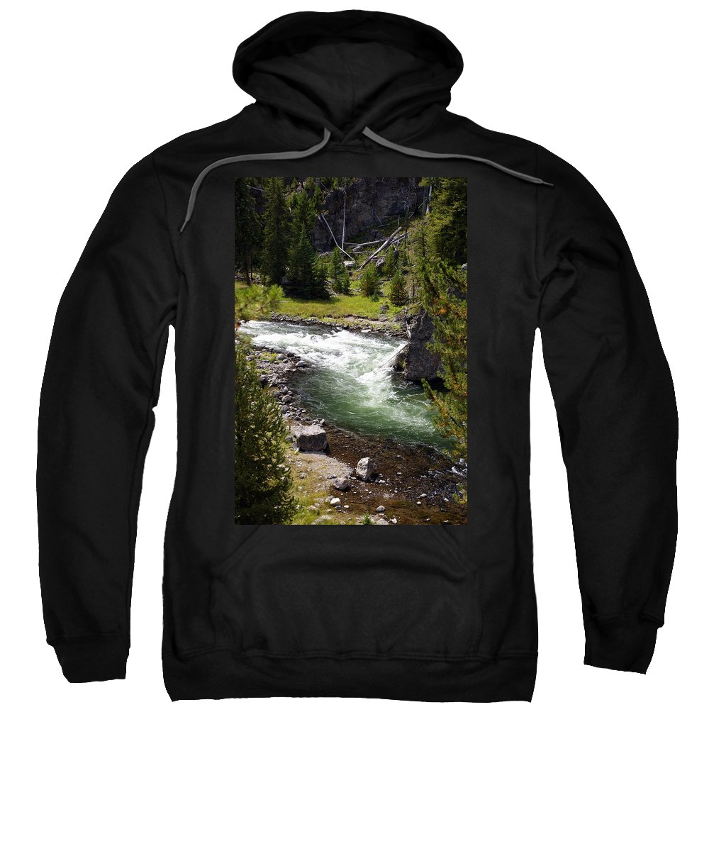 Yellowstone National Park Sweatshirt featuring the photograph Firehole Canyon 2 by Marty Koch