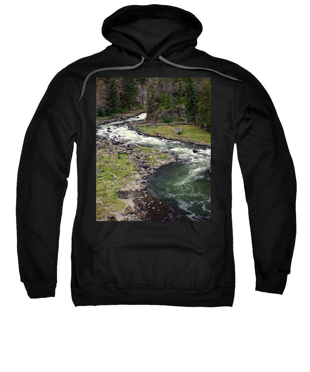 Firehole River Sweatshirt featuring the photograph Firehole River 2 by Marty Koch