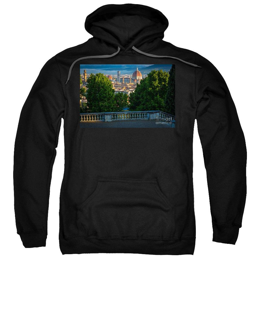 Europe Sweatshirt featuring the photograph Firenze Vista by Inge Johnsson