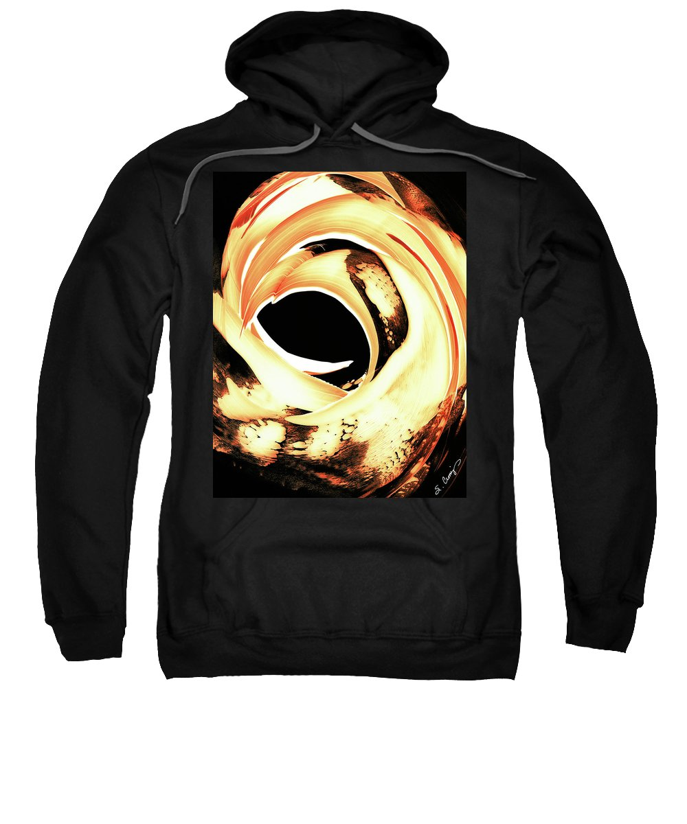 Fire Sweatshirt featuring the painting Firewater 4 by Sharon Cummings