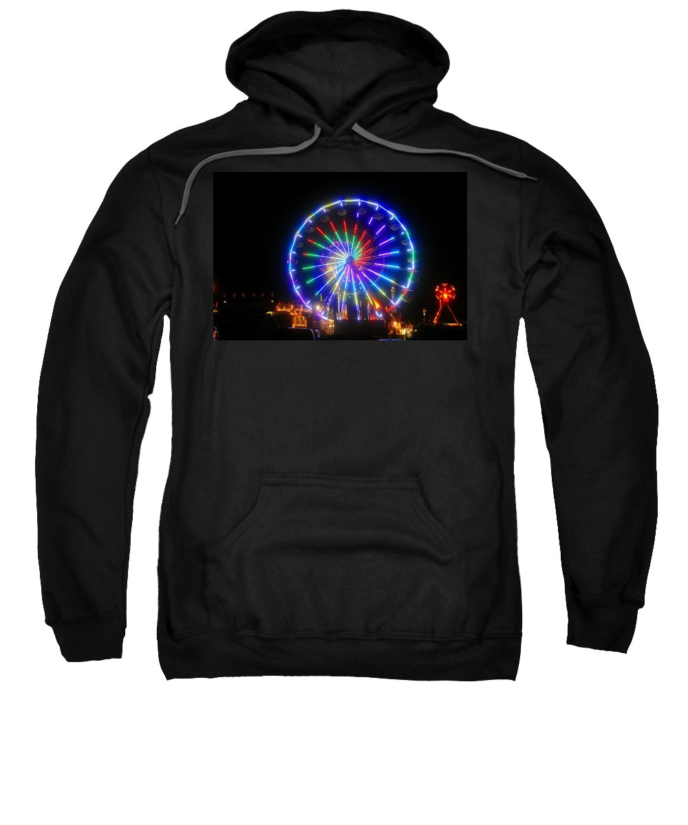 Fireworks Sweatshirt featuring the photograph Fireworks At The Fair by David Lee Thompson