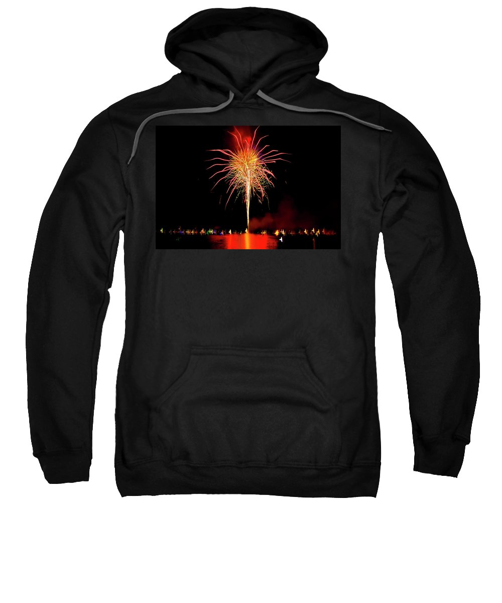 Fireworks Sweatshirt featuring the photograph Happy Birthday, United States Of America 8 by Kay Brewer