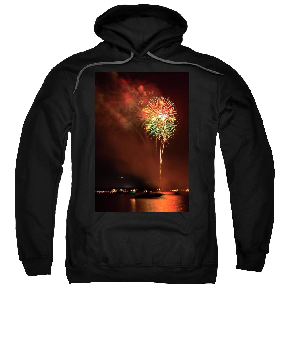 Fireworks Sweatshirt featuring the photograph Happy Birthday United States Of America 15 by Kay Brewer