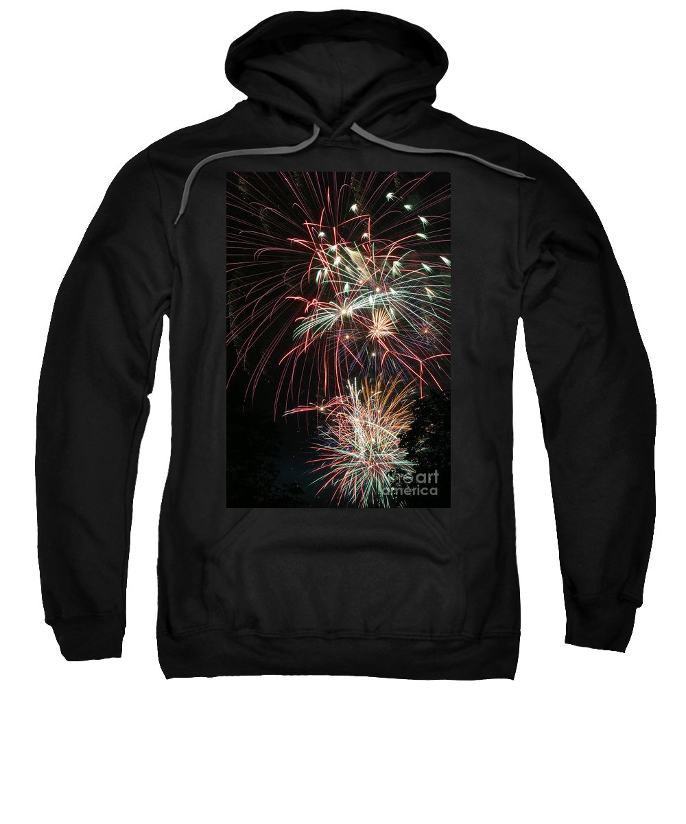 Firework Sweatshirt featuring the photograph Fireworks6487 by Gary Gingrich Galleries
