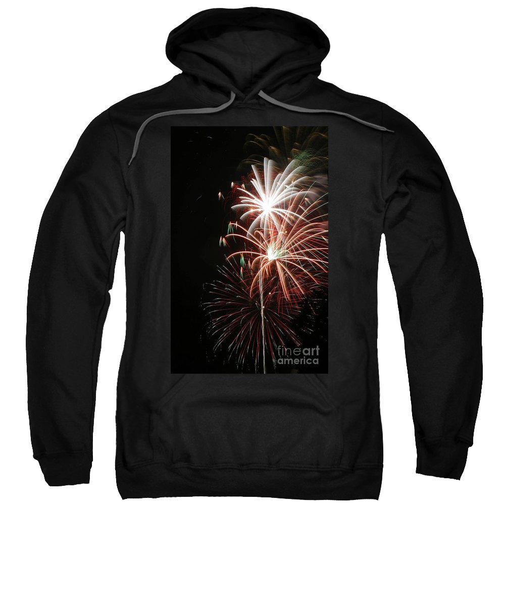 Firework Sweatshirt featuring the photograph Fireworks6521 by Gary Gingrich Galleries