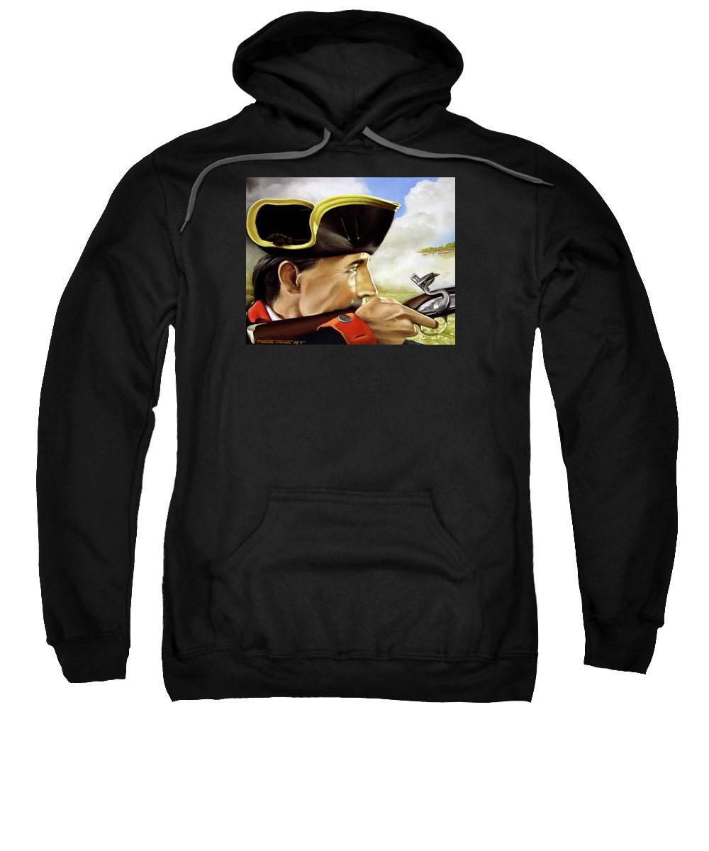 Continental Sweatshirt featuring the painting First To Fight by Marc Stewart
