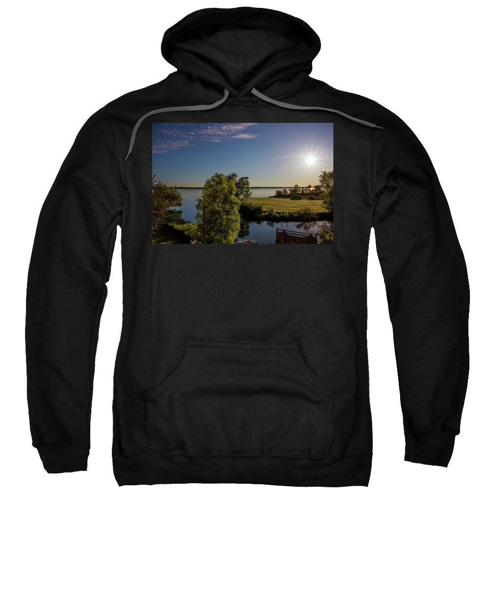 Fish Hook Lake Sweatshirt featuring the photograph Fish Hook Lake Morning by Michael Johnk