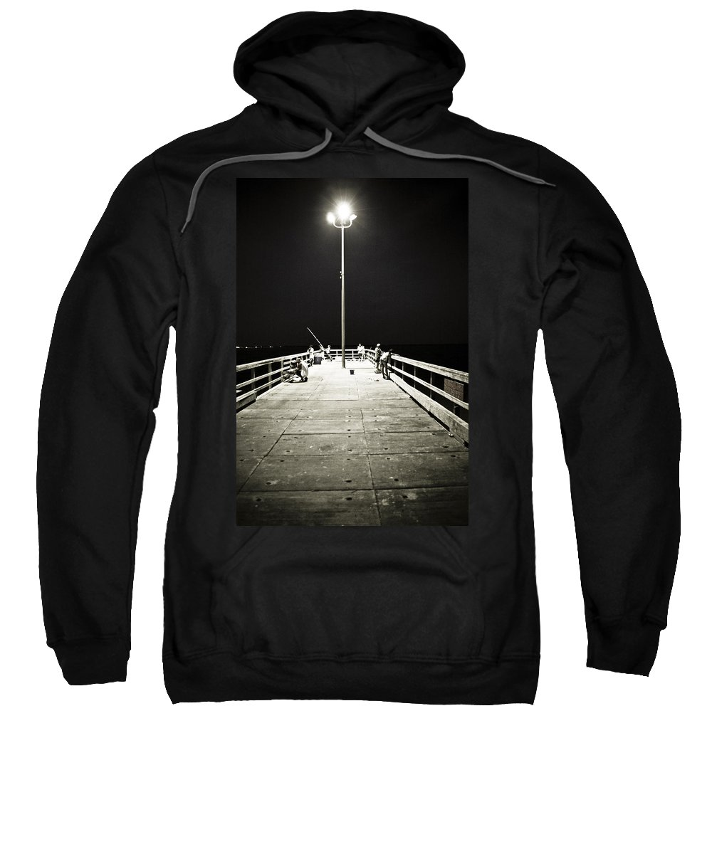 Americana Sweatshirt featuring the photograph Fishing At Night by Marilyn Hunt