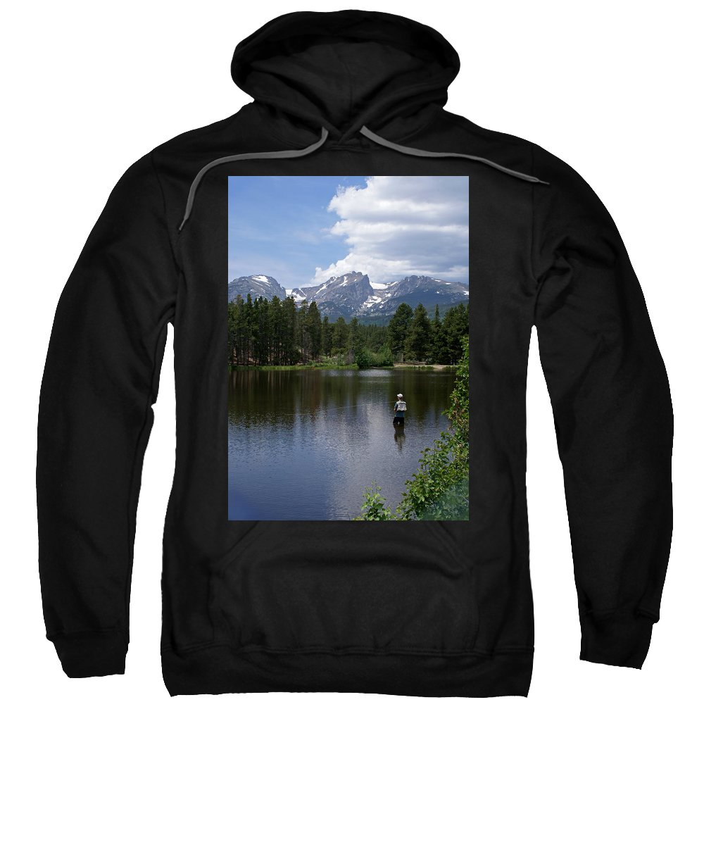 Fishing Sweatshirt featuring the photograph Fishing In Colorado by Heather Coen
