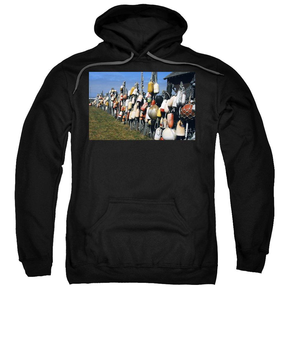 Buoys Sweatshirt featuring the photograph Fishing Village by David Lee Thompson