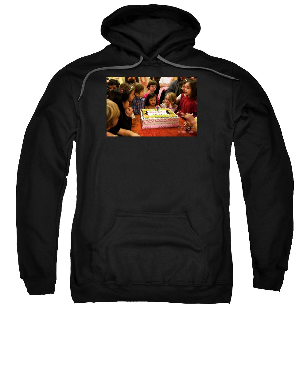 Birthday Sweatshirt featuring the photograph Five by Madeline Ellis