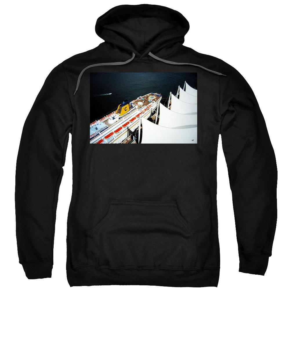Five Sails Sweatshirt featuring the photograph Five Sails And A Ship by Will Borden
