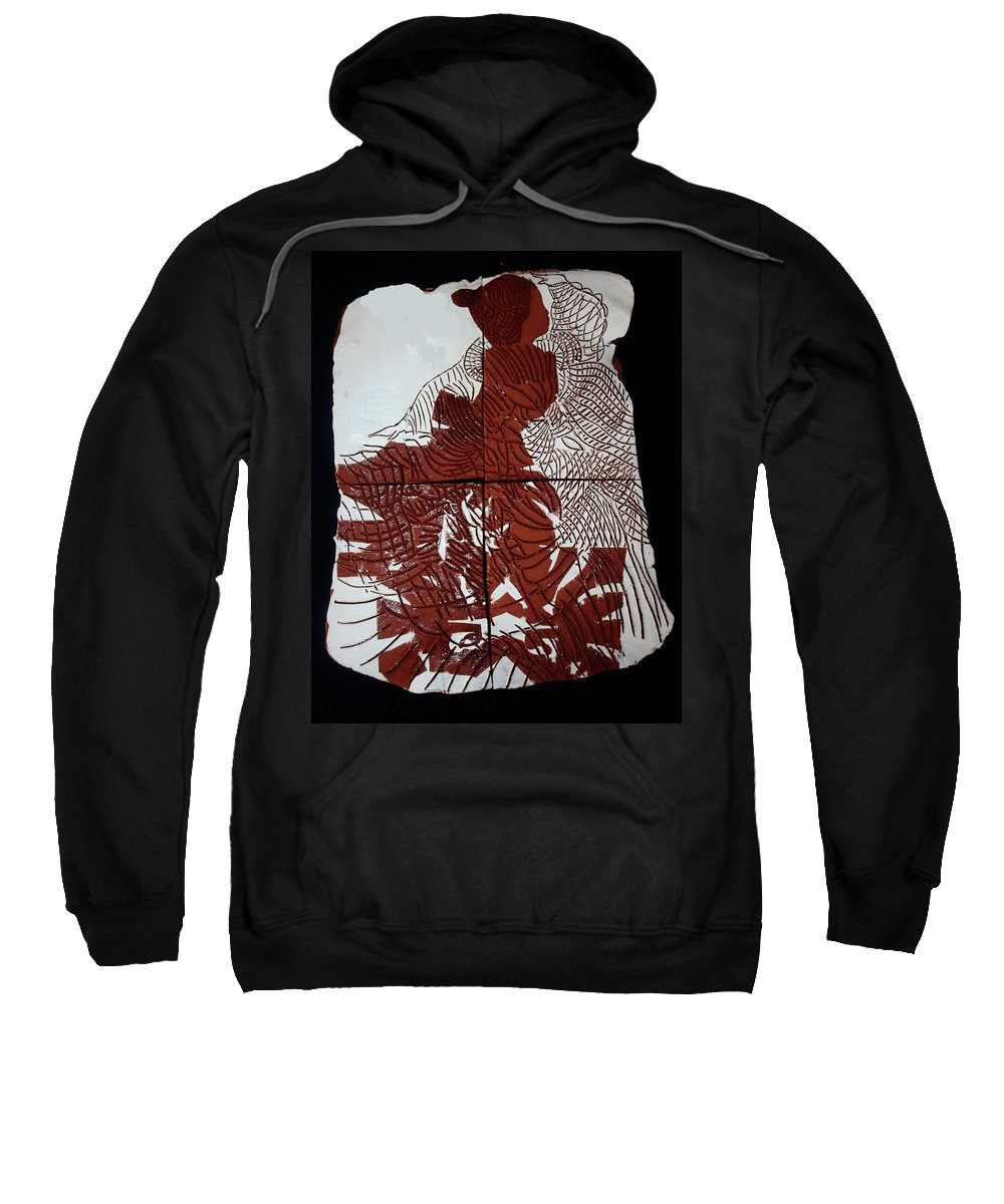 Mama Africa Twojesus Sweatshirt featuring the ceramic art Flamenco Lady 6 by Gloria Ssali
