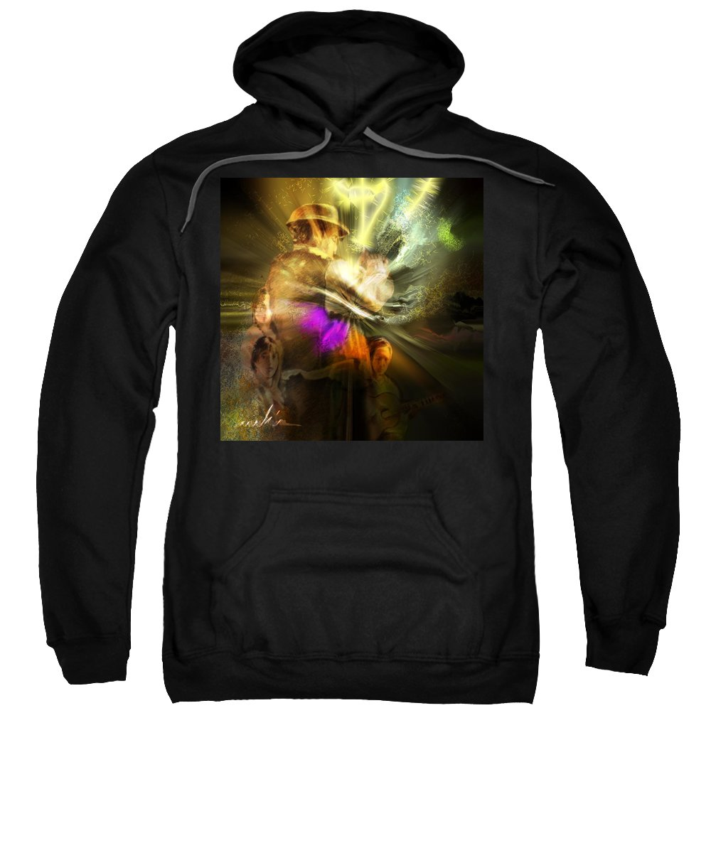 Spain Sweatshirt featuring the painting Flamenco by Miki De Goodaboom