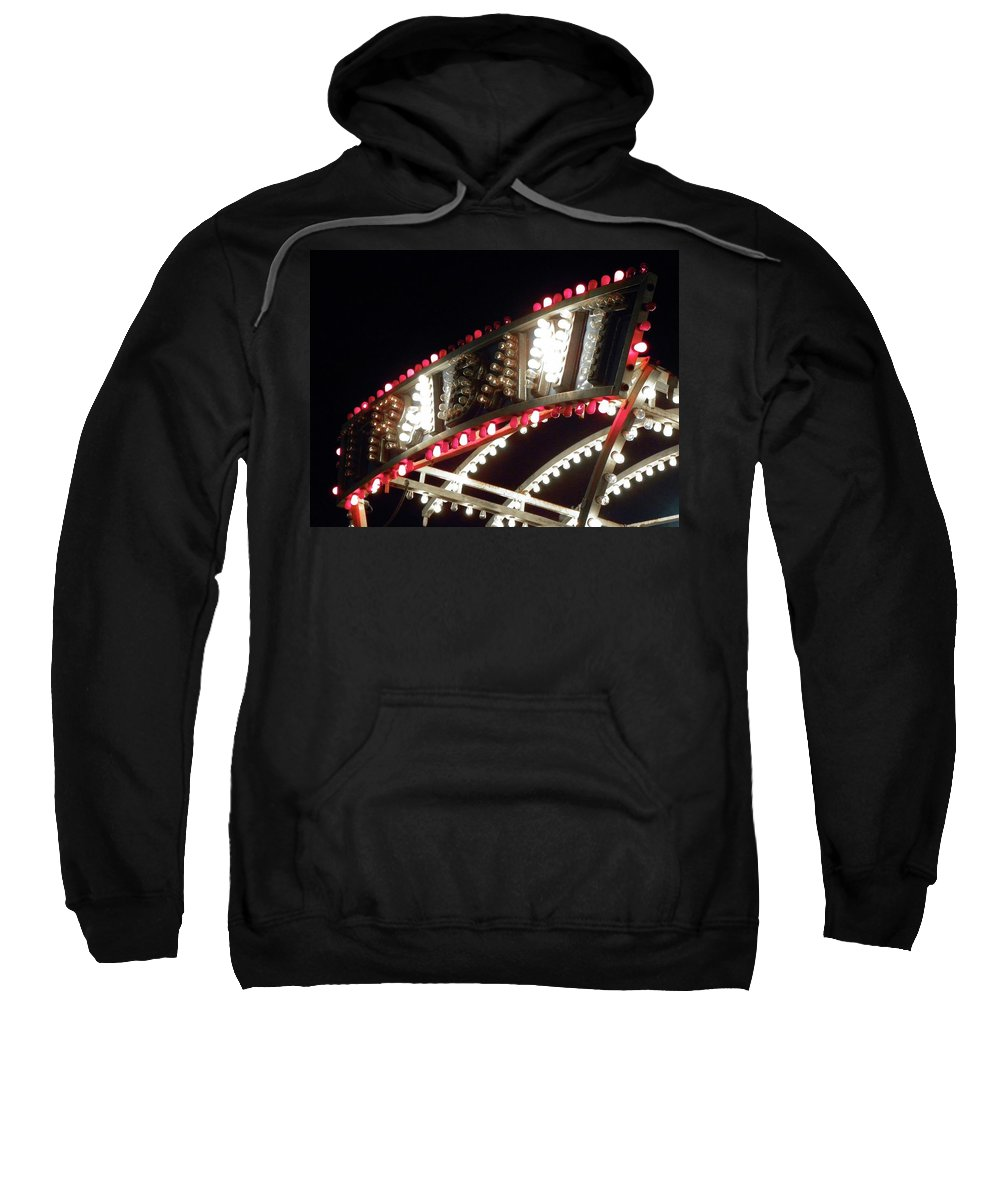Carnival Sweatshirt featuring the photograph Flashing Lights by Shannon Turek