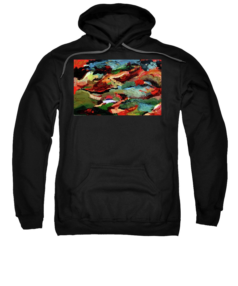 Abstract Sweatshirt featuring the painting Fling by Scott Dykema