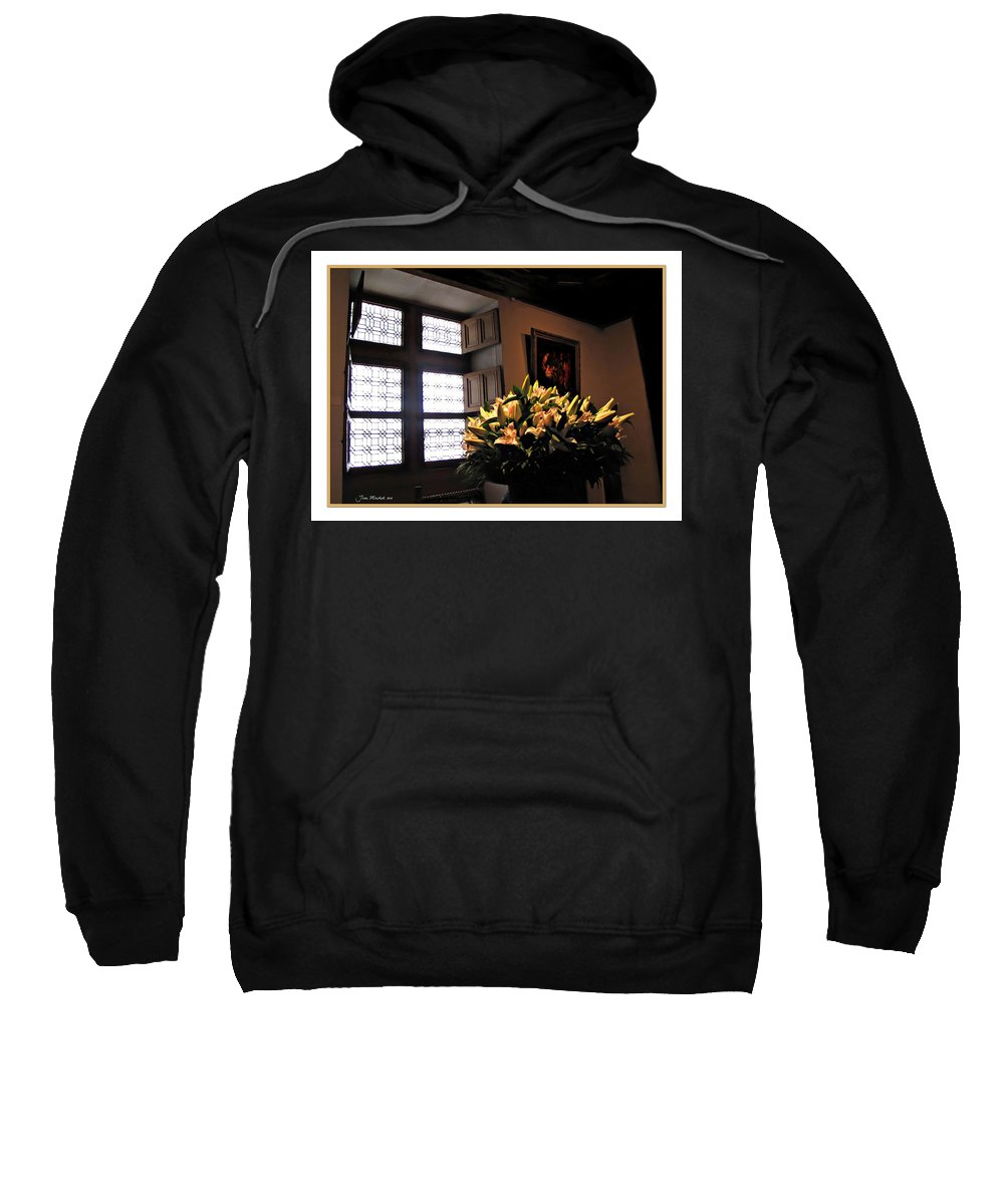 Chateau Sweatshirt featuring the photograph Floral At Chenonceau by Joan Minchak