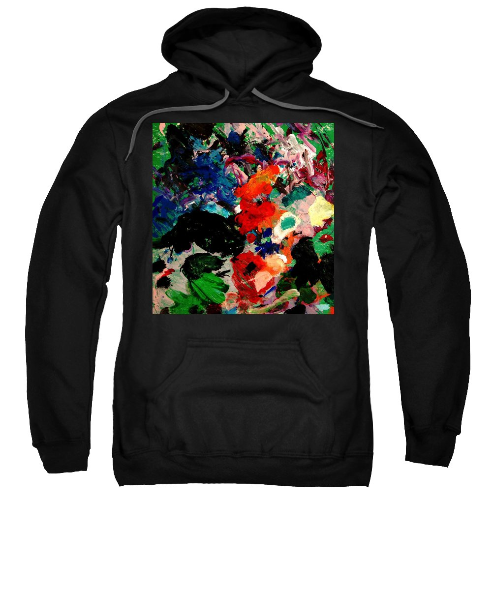 Abstract Sweatshirt featuring the painting Floral Garden by Natalie Holland
