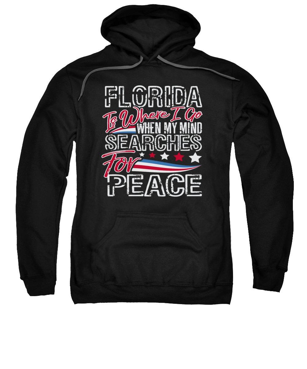 Veterans-day Sweatshirt featuring the digital art Florida American Patriotic Memorial Day by Passion Loft