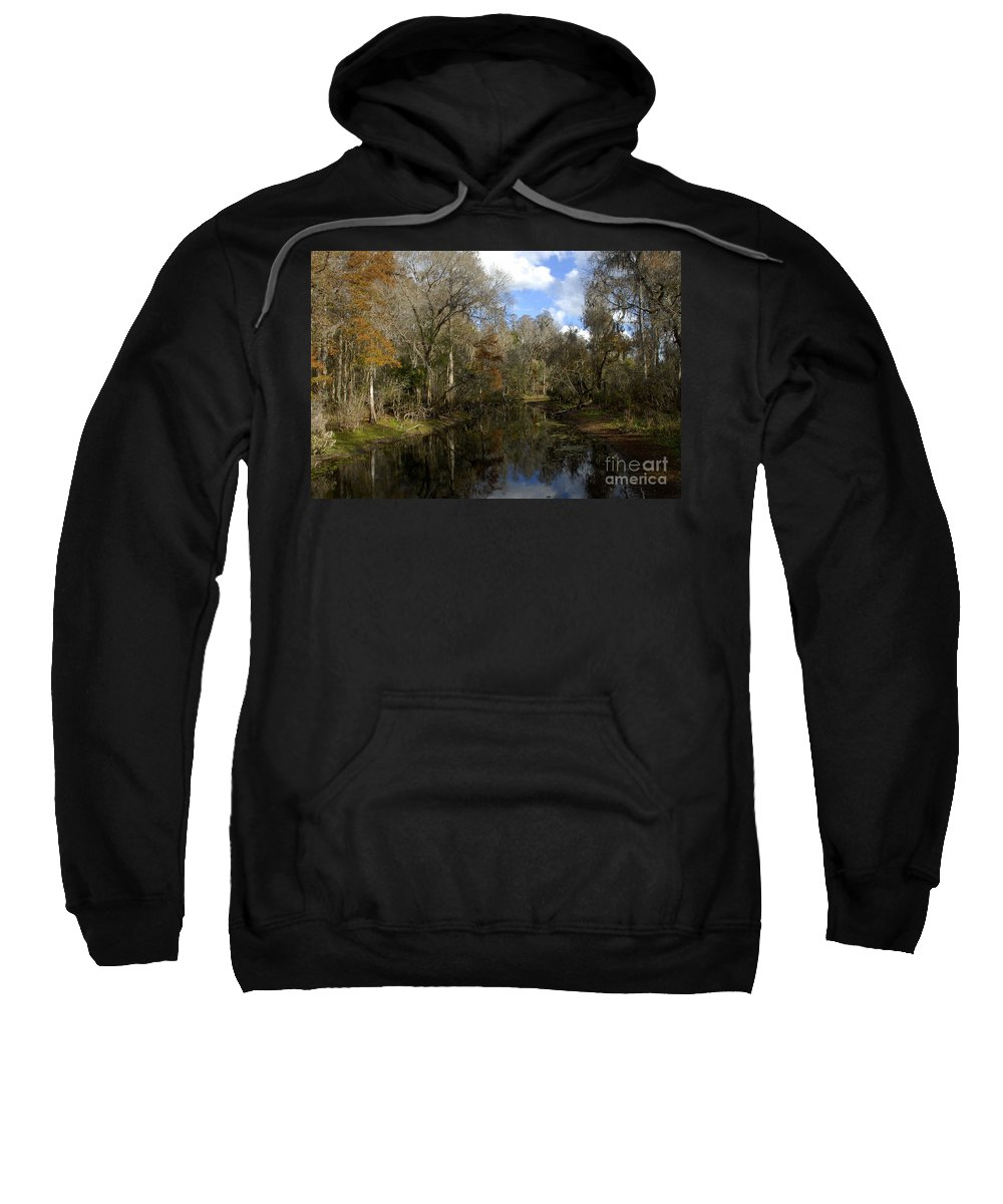 Wetlands Sweatshirt featuring the photograph Florida Wetlands by David Lee Thompson