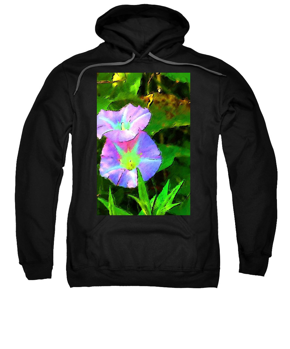 Digital Photograph Sweatshirt featuring the photograph Flower Drawing by David Lane