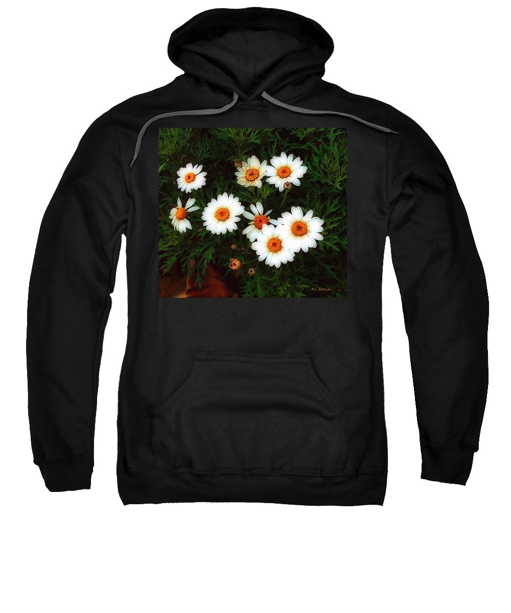 Bush Sweatshirt featuring the painting Flowering Yew by RC DeWinter