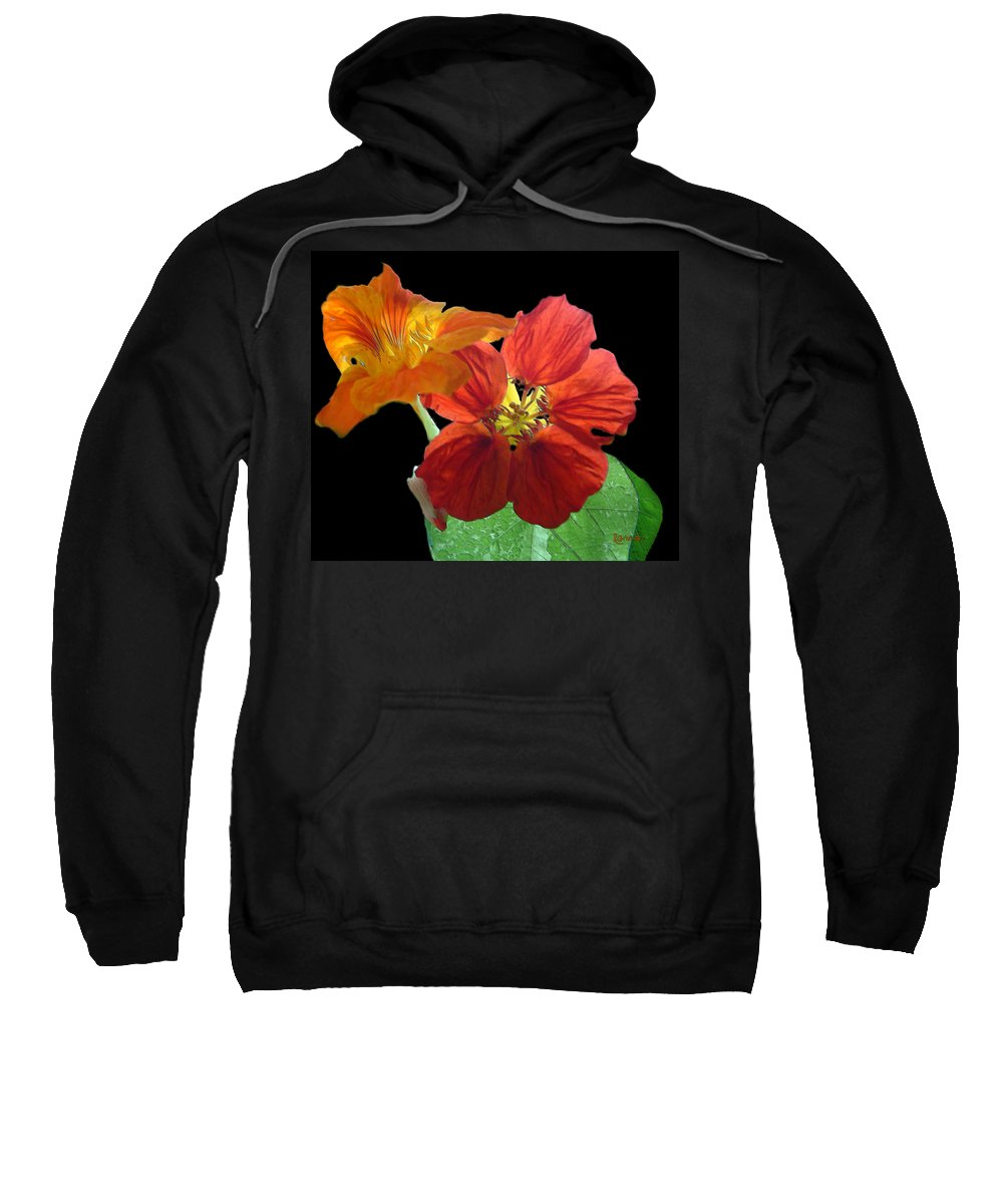 Nasturtiums Sweatshirt featuring the painting Flowers For Ebie by RC DeWinter