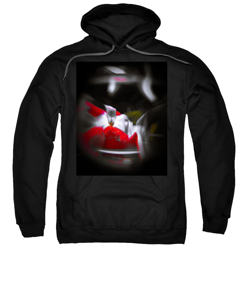 Abstract Sweatshirt featuring the photograph Flowers In Abstract by Scott Wyatt