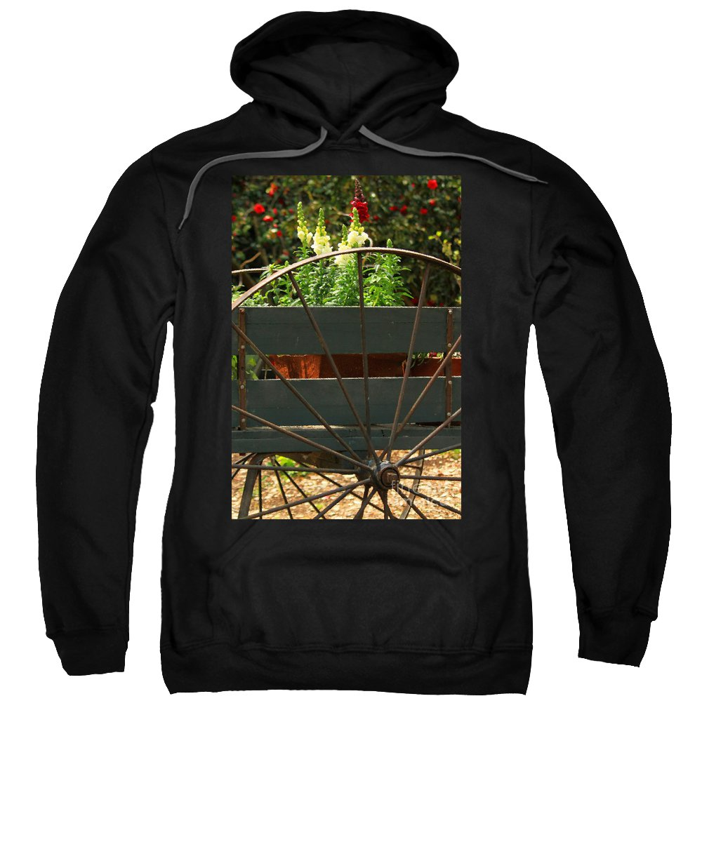 Floral Sweatshirt featuring the photograph Flowers In The Cart by James Eddy
