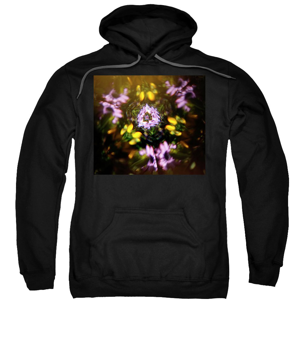 Flowers Sweatshirt featuring the photograph Flowers Thru Kaleidiscope by Marilyn Hunt