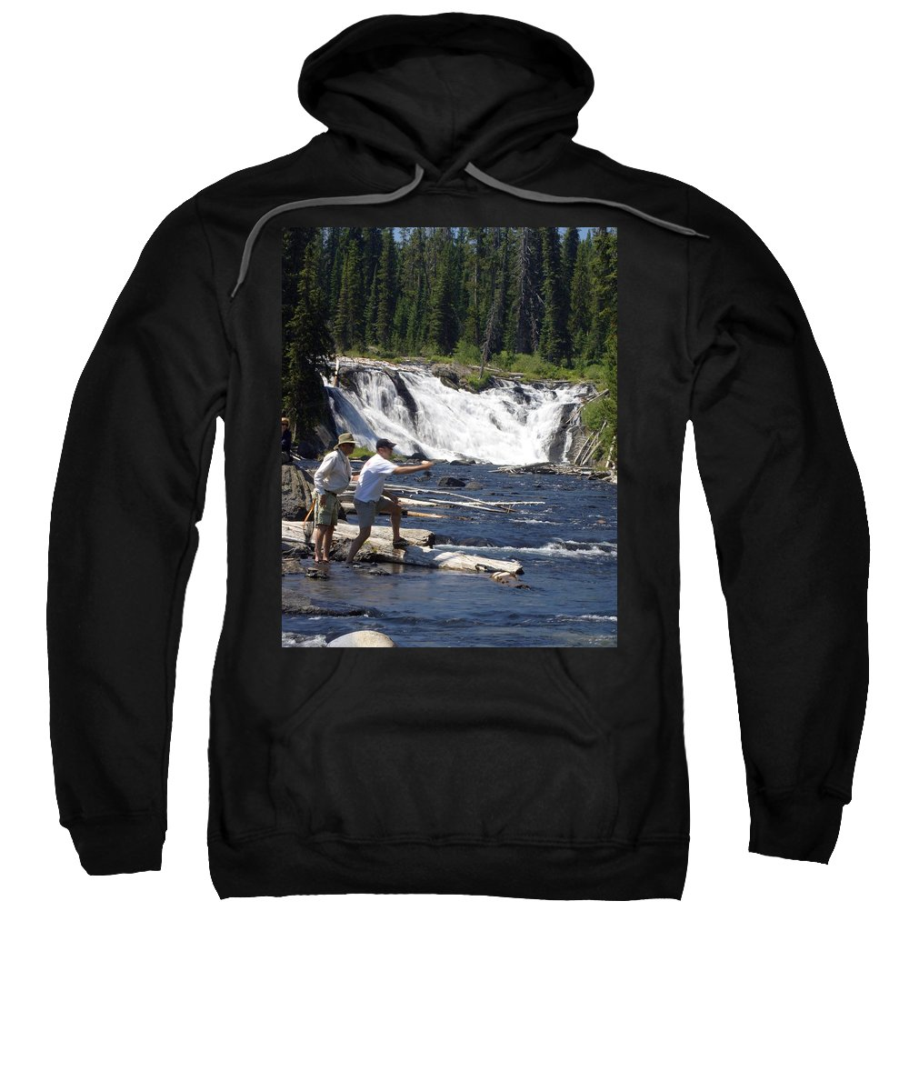 Fly Fishing Sweatshirt featuring the photograph Fly Fishing The Lewis River by Marty Koch