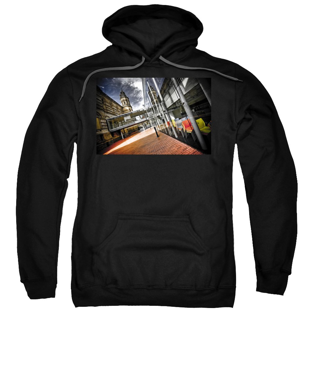 Flyover Sweatshirt featuring the photograph Flyover by Wayne Sherriff