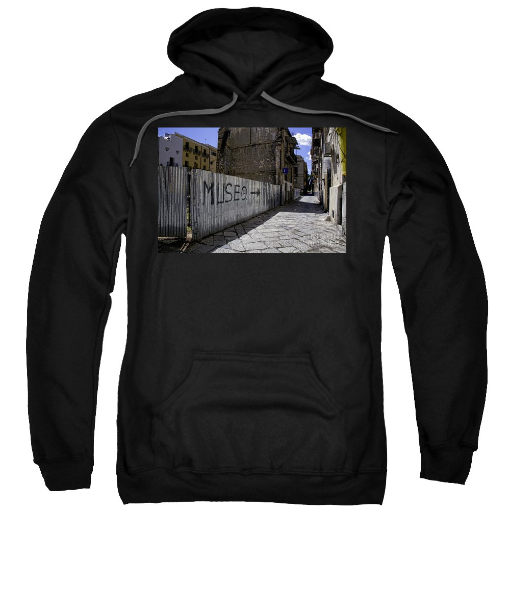 Sicily Sweatshirt featuring the photograph Follow The Arrow 1 by Madeline Ellis