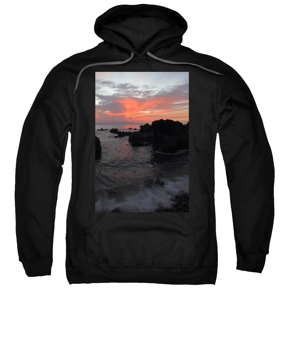 Seascape Sweatshirt featuring the photograph Fonsalia Red by Phil Crean