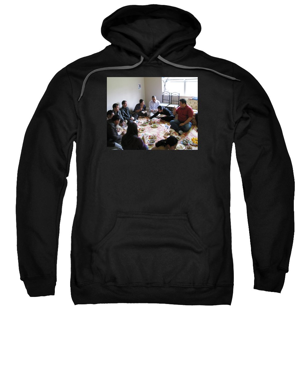 Meal Sweatshirt featuring the photograph Food And Fellowship by Zau