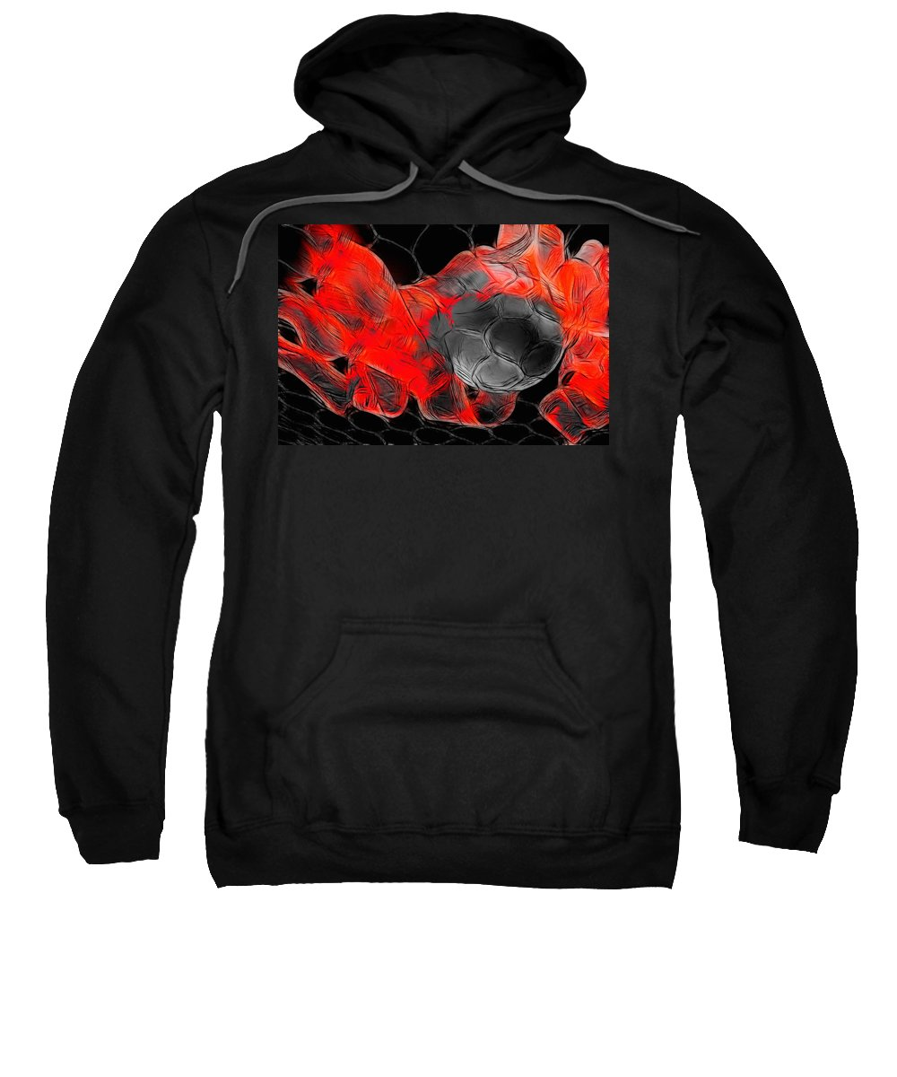 Football Sweatshirt featuring the photograph Football by Manfred Lutzius
