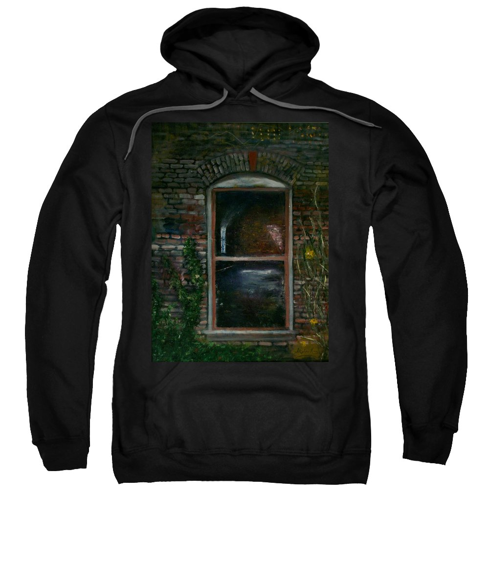 Landscape Sweatshirt featuring the painting For Rent by Stephen King