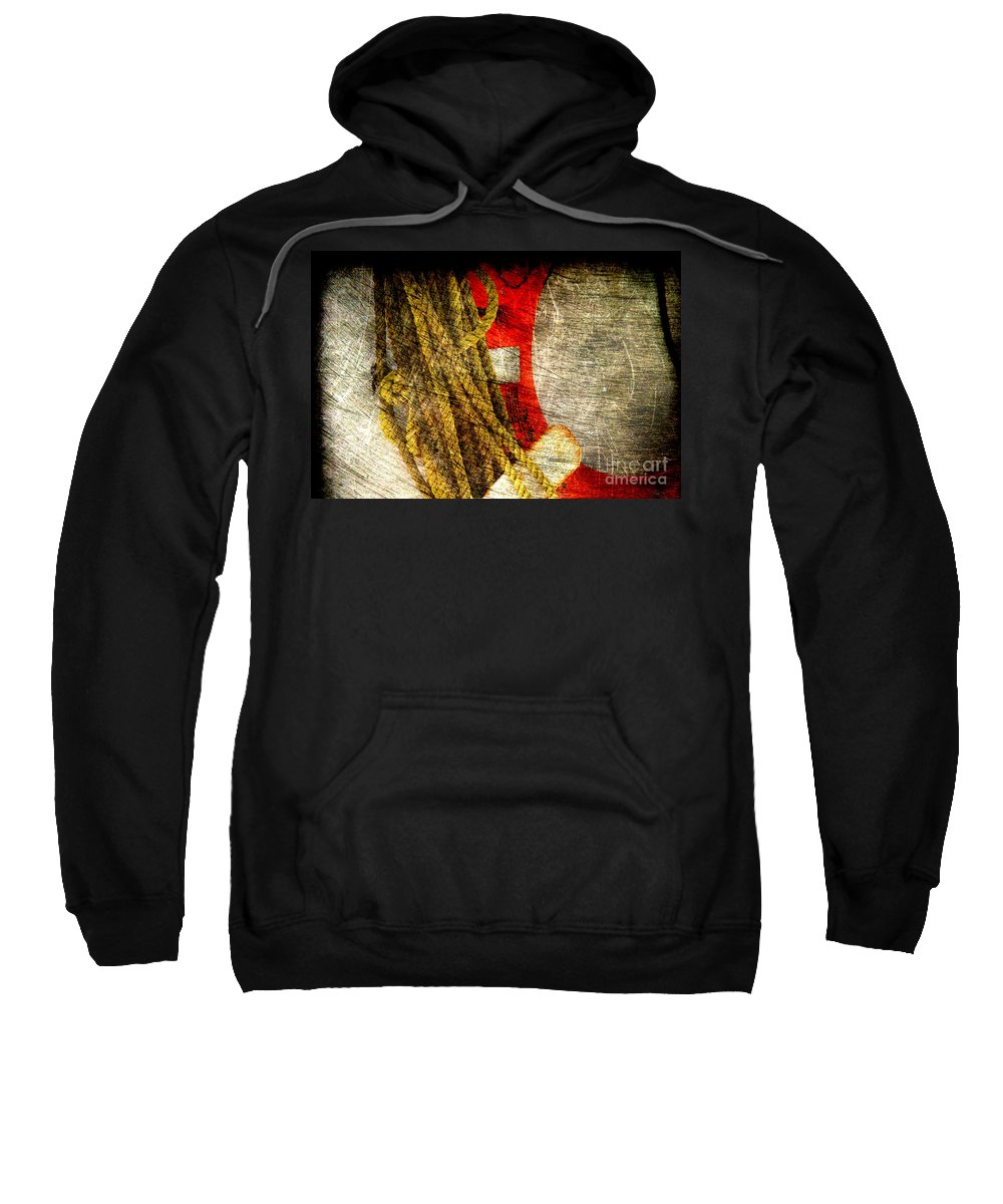 Safety Sweatshirt featuring the photograph For Your Safety by Susanne Van Hulst