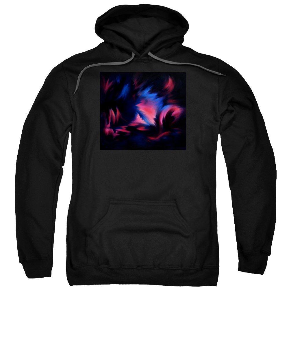 Abstract Sweatshirt featuring the painting Forbidden Words by Rachel Christine Nowicki