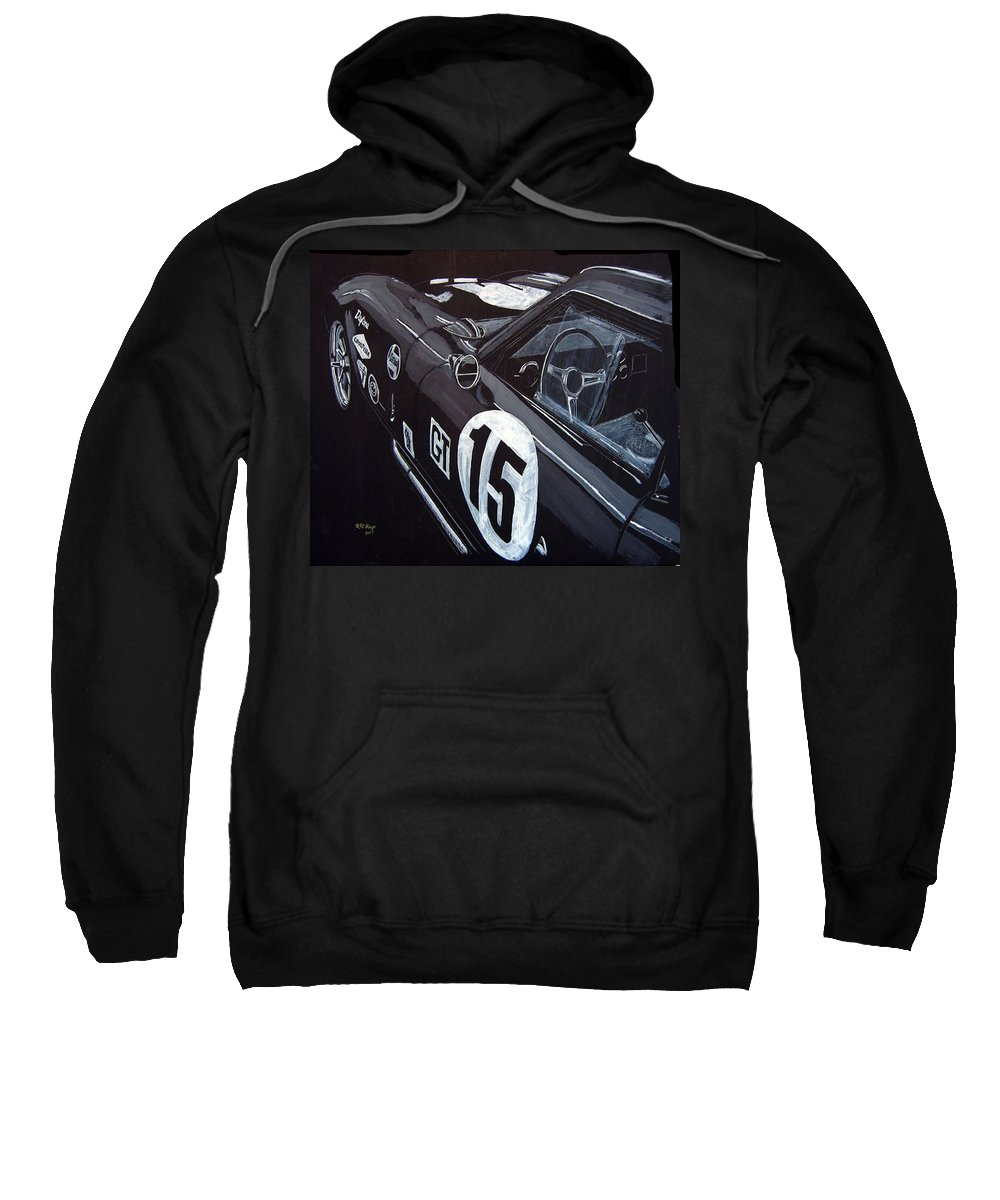 Ford Cobra Racing Coupe Sweatshirt featuring the painting Ford Cobra Racing Coupe by Richard Le Page