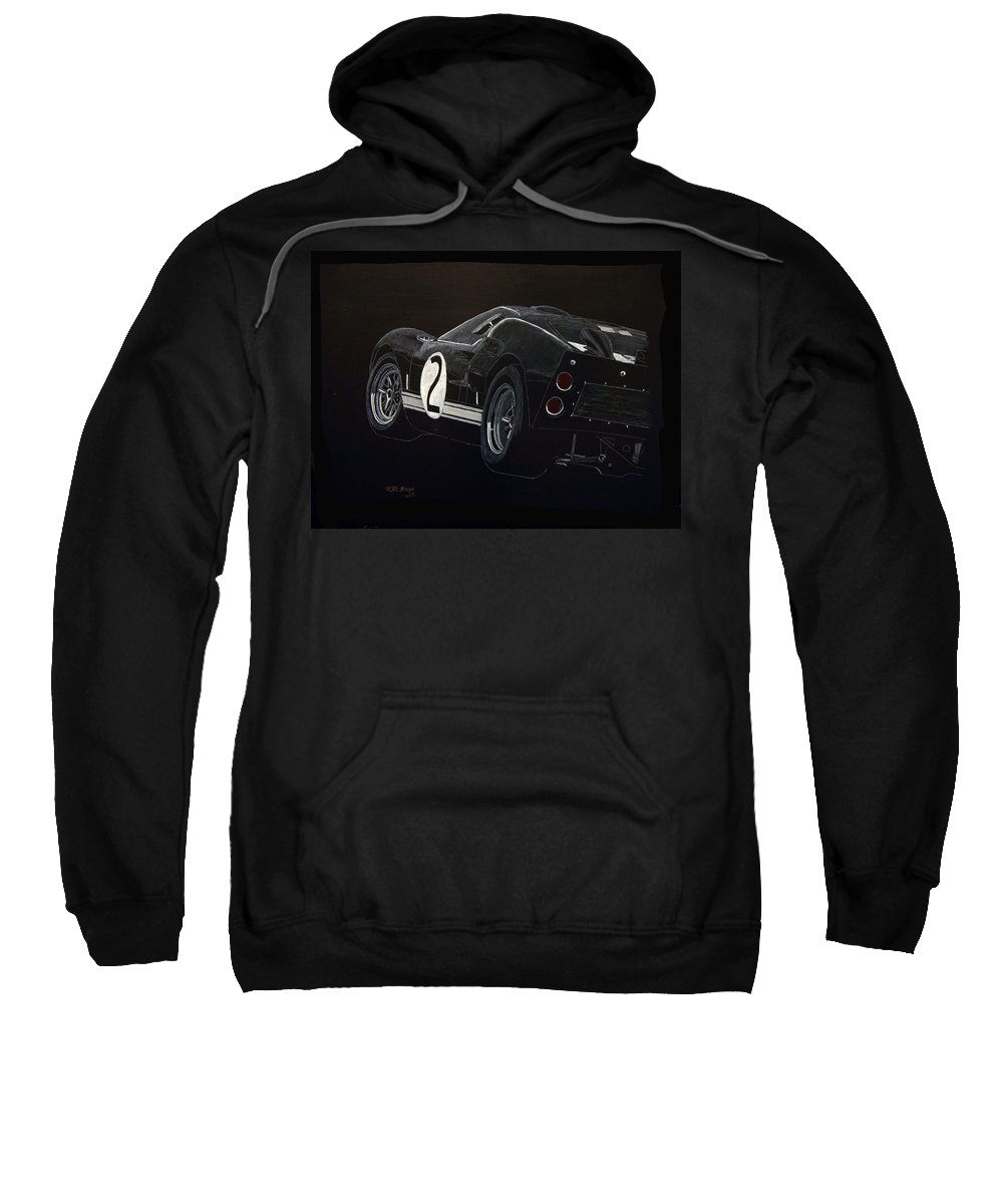 Ford Sweatshirt featuring the painting Ford Gt40 Racing by Richard Le Page