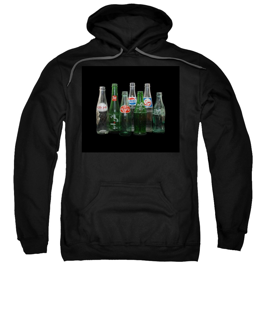 Pepsi Sweatshirt featuring the photograph Foreign Cola Bottles by Rob Hans