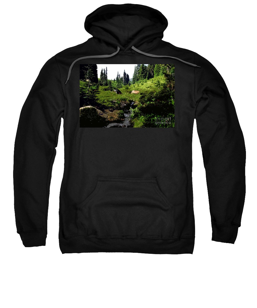 Forest Sweatshirt featuring the painting Forest by David Lee Thompson