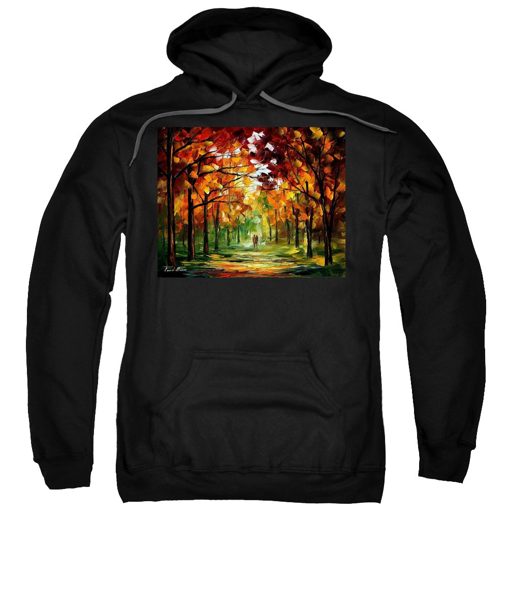 Jandscape Sweatshirt featuring the painting Forrest Of Dreams by Leonid Afremov