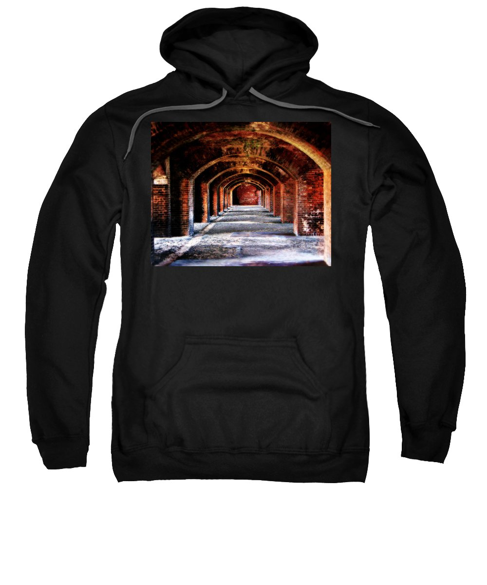 Fort Sweatshirt featuring the photograph Fort Jefferson by Perry Webster