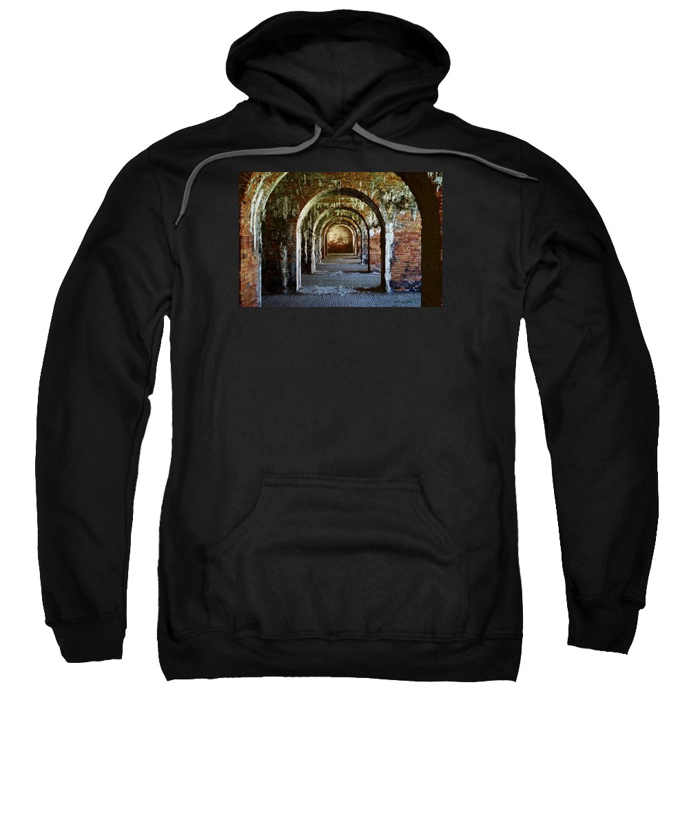 Fort Morgan Sweatshirt featuring the photograph Fort Morgan Arches by Nick Jones